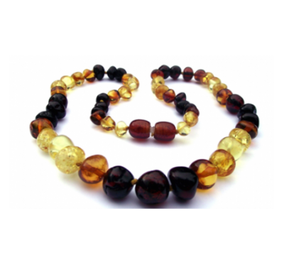 Baltic Amber Necklace Rainbow
