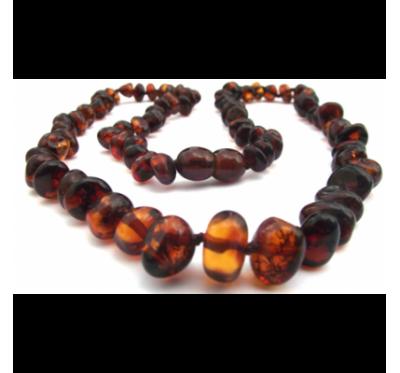 Baltic Amber Necklace Dark Cognac
