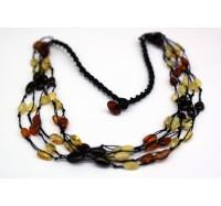 Baltic Amber & Agate Bracelet