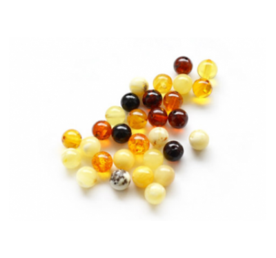 Loose round amber beads