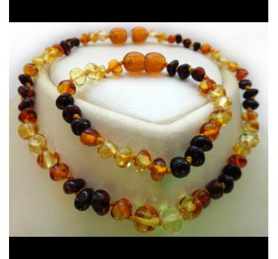 Necklace & Bracelet/Anklet Set - Rainbow