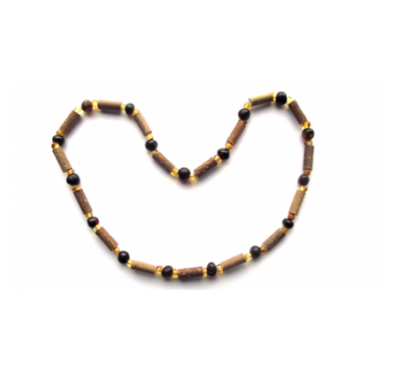 Hazelwood & Amber Necklace
