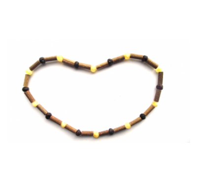 Hazelwood & Amber Necklace for Men