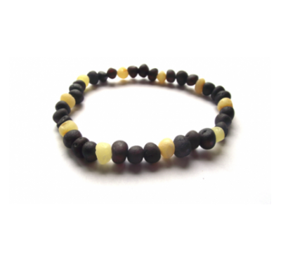 Raw Amber Bracelet for Men