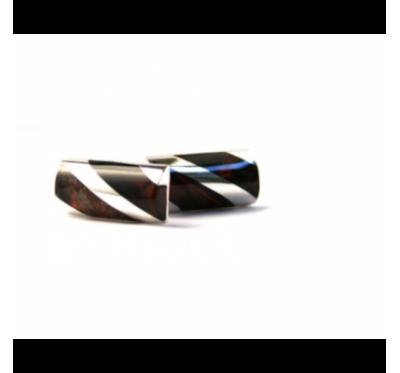 Amber & Sterling silver cufflinks