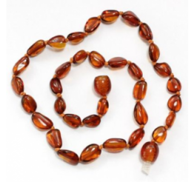 Amber Necklace Bean