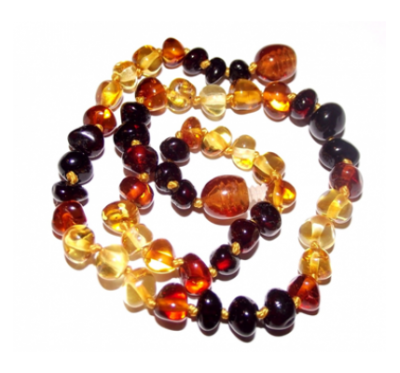 Amber Necklace Rainbow